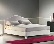 Double bed / traditional / with storage / fabric