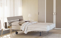 Double bed / contemporary / lacquered / walnut