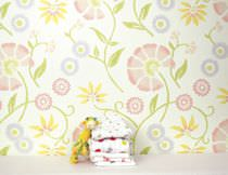 Fabric wallpapers / traditional / floral