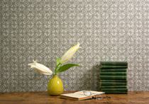Fabric wallpapers / traditional / patterned / hand-printed