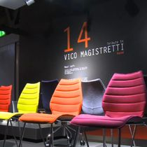 Dining chair / contemporary / steel / polypropylene