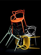 Contemporary chair / with armrests / polypropylene / for professional use