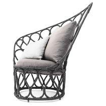 Contemporary armchair / steel / polyethylene / outdoor
