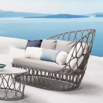 Contemporary sofa / outdoor / steel / polyethylene