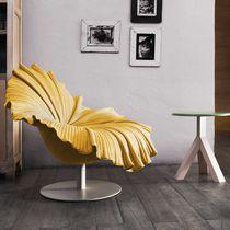 Original design fireside chair / steel / fiberglass / swivel