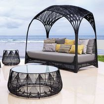 Contemporary daybed / steel / nylon / garden