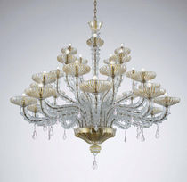Traditional chandelier / blown glass / Murano glass / metal
