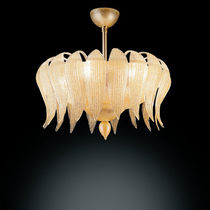 Traditional ceiling light / blown glass / Murano glass / halogen