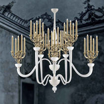 Contemporary chandelier / blown glass / Murano glass / metal