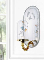 Contemporary wall light / blown glass / Murano glass / LED