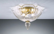 Traditional ceiling light / blown glass / Murano glass / metal
