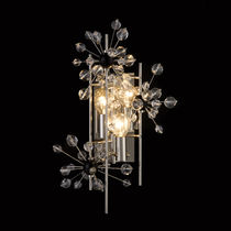 Traditional wall light / Swarovski® crystal / brass