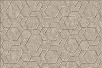Contemporary rug / geometric pattern / wool / silk