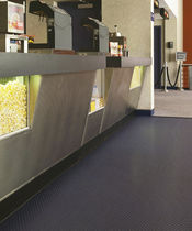 PVC floor covering / smooth / tile look / non-slip