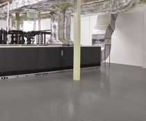 PVC floor covering / smooth / metal look / non-slip