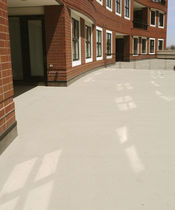 PVC floor covering / smooth / concrete look / water-repellent