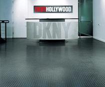 PVC floor covering / commercial / textured / metal look