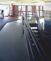 PVC floor covering / textured / metal look / high-resistance