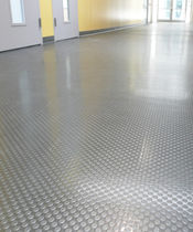 PVC floor covering / textured / tile look / non-slip