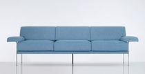 Contemporary sofa / leather / by Christophe Pillet / 3-seater