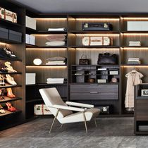 Modular walk-in wardrobe / contemporary / wooden / melamine