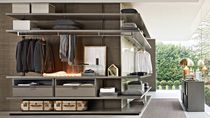 Wall-mounted walk-in wardrobe / modular / contemporary / wooden