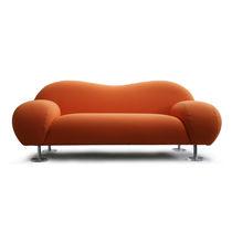 Contemporary sofa / fabric / metal / white