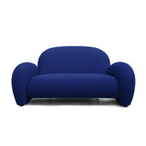 Contemporary sofa / fabric / steel / on casters