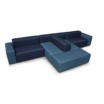 Modular sofa / contemporary / fabric / brown