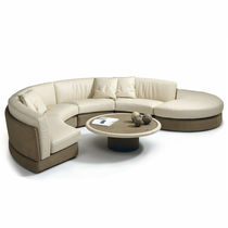 Modular sofa / contemporary / fabric / leather