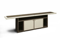 Contemporary sideboard / solid wood / beige