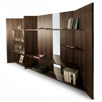 Modular shelf / contemporary / oak / walnut