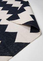 Contemporary rug / geometric / cotton / rectangular