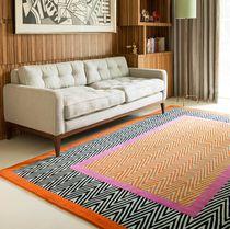 Contemporary rug / striped / Tibetan wool / rectangular