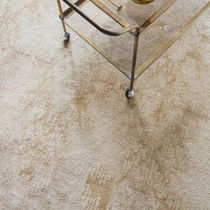 Contemporary rug / patterned / silk / bamboo