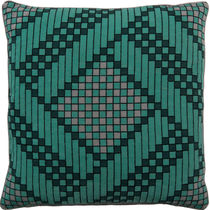 Square cushion / patterned / wool