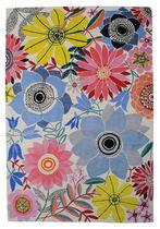 Contemporary rug / floral pattern / Tibetan wool / rectangular