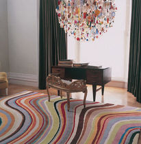 Contemporary rug / striped / wool / Tibetan wool