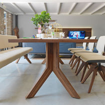 Contemporary dining table / oak / walnut / beech