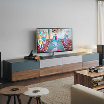 Contemporary multimedia cabinet / for residential applications / wooden