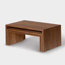 Contemporary coffee table / oak / walnut / beech