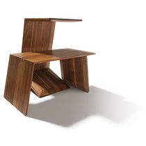 Contemporary side table / oak / walnut / cherrywood