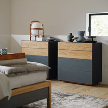Contemporary chest of drawers / oak / walnut / cherrywood