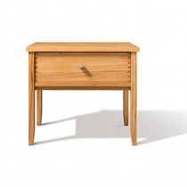 Contemporary bedside table / oak / walnut / beech