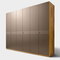 Contemporary wardrobe / wooden / with sliding door