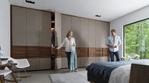 Contemporary wardrobe / oak / walnut / beech