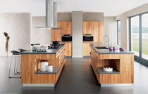 Contemporary kitchen / stone / solid wood / wooden
