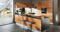 Contemporary kitchen / stainless steel / cherrywood / beech
