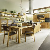 Contemporary kitchen / stone / maple / cherrywood