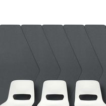 Wall-mounted acoustic panel / fabric / foam / perforated